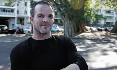 A photograph of Ian Roberts, taken at Redfern Oval in July, 2015. Roberts became the first openly gay rugby league player when he came out in 1995.