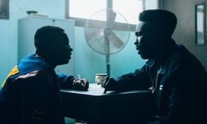 Caleel Harris and Michael K. Williams in When They See Us