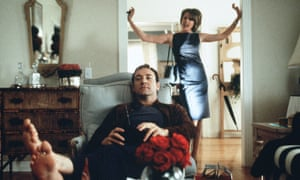 With Kevin Spacey in American Beauty.