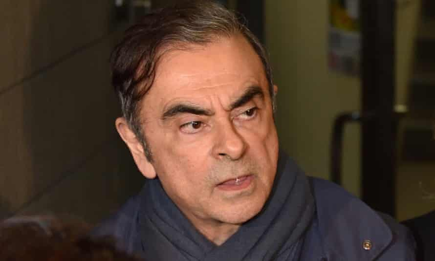 Carlos Ghosn leaves the office of his lawyer Junichiro Hironaka in Tokyo. Tokyo prosecutors are reportedly considering pressing a fresh charge against Ghosn.