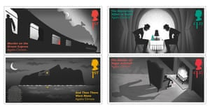 the new Agatha Christie stamps.
