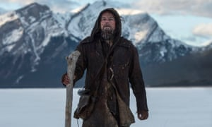 Leonardo DiCaprio in The Revenant: will he win just for surviving the shoot?