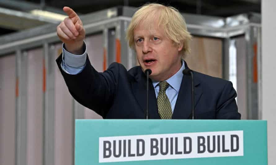 Boris Johnson giving a speech during a visit to Dudley College of Technology on 30 June 2020.