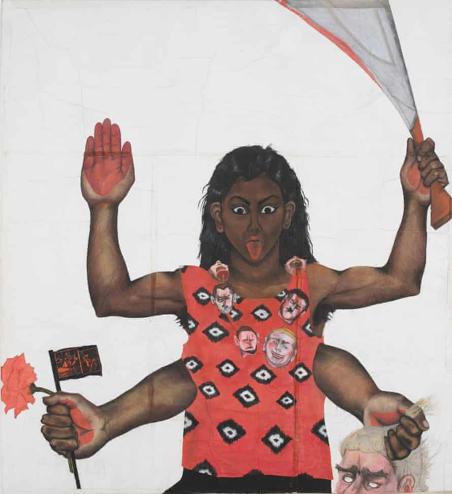 Sutapa Biswas's Housewives With Steak Knives.