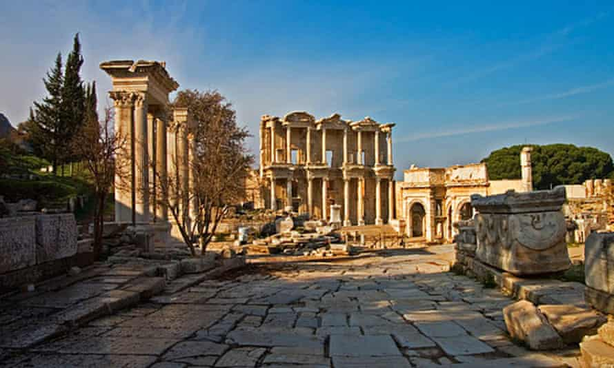 The library of Celsus at Ephesus.