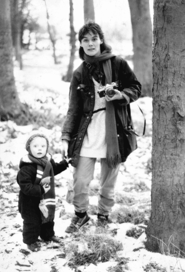 Tish and Ella in the snow … 'She used that camera until the day she died.'