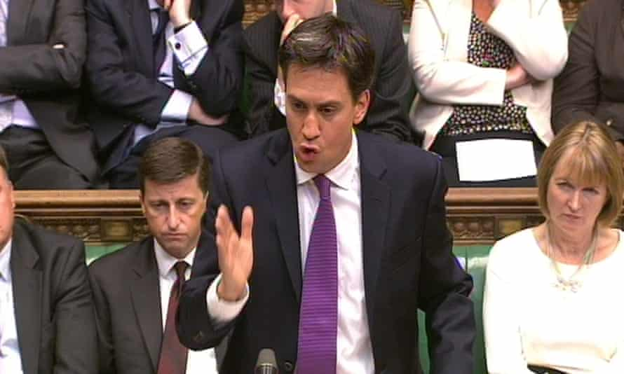 Ed Miliband, then Labour party leader, speaks during a debate on Syria in the House of Commons in 2013.