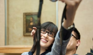 Snap happy in the Louvre.