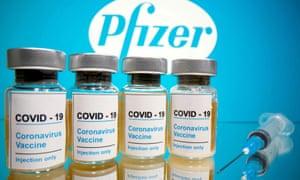 Vials of Pfizer/BioNTech's vaccine