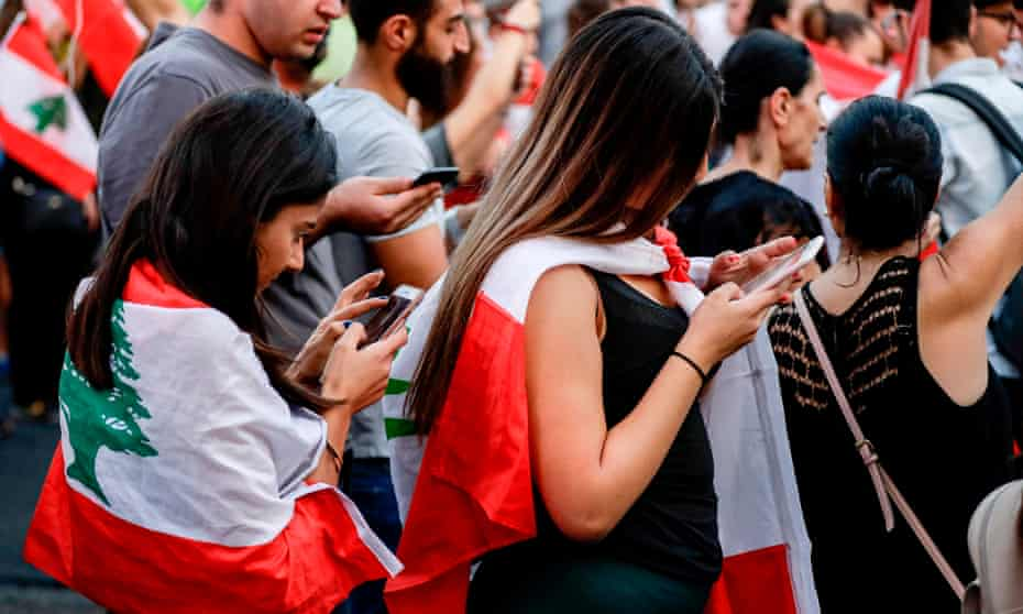 Lebanese protesters