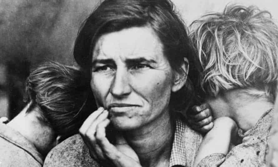 Migrant Mother and her Children (detail), by Dorothea Lange. Photograph: Getty Images