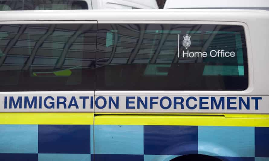 A Home Office immigration enforcement vehicle