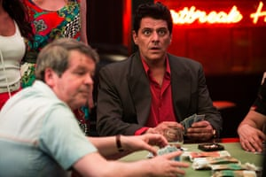 Kevin Harrington as Lewis Moran and Vince Colosimo as Alphonse Gangitano in the hit Underbelly television series about Melbourne's gangland war