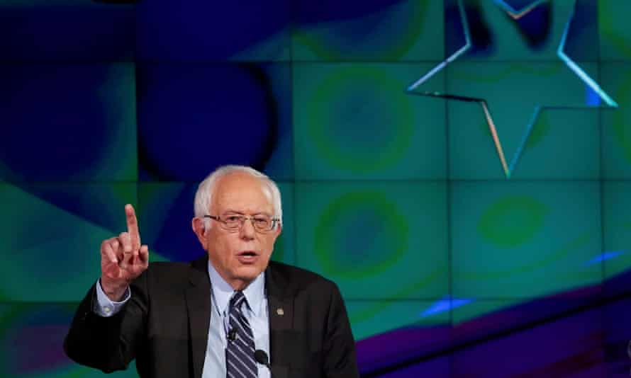 Bernie Sanders in Las Vegas, Nevada. The state's low-wage workers and indebted students are drawn to the Vermont senator's message of radical economic change.