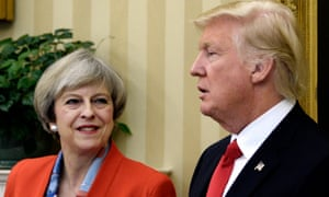 'Mrs May made a dash across the Atlantic to call at the White House in Donald Trump's first week in residence.'