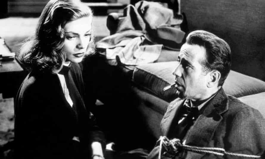 Lauren Bacall and Humphrey Bogart in The Big Sleep.