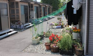 Temporary housing units in Aizuwakamatsu for evacuated Okuma residents