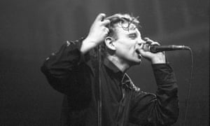 Mark E Smith performs in Amsterdam in 1987.
