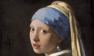 Detail from Johannes Vermeer's Girl with a Pearl Earring.