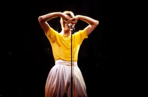 Performing onstage on Low/Heroes 1978 world tour