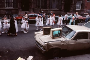 'The TVs were plugged into the lamp-posts' … Communion by Arlene Gottfried.