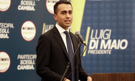 'The Five Star Movement, led by Luigi Di Maio [pictured], reached a whopping 32% and enshrined its position as Italy's largest party by far.'
