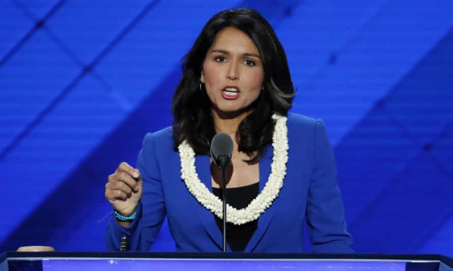 Tulsi Gabbard at the Democratic National Convention in Philadelphia.
