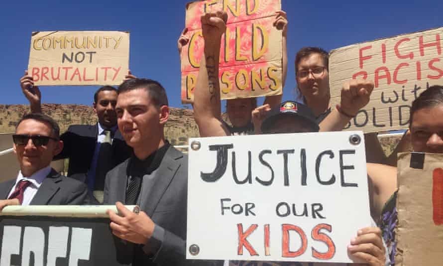 Former teen inmate Dylan Voller and supporters rally