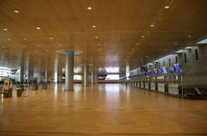 An empty departure hall is seen at Ben Gurion International Airport near Tel Aviv, Israel, on 23 December, 2020. Israel has adopted entry restrictions over new virus strain from Wednesday, under which non-Israelis are not allowed to enter the country, except for diplomats who are stationed in Israel and other special cases.