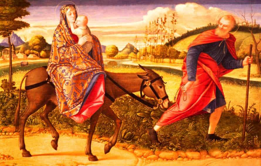 The Flight into Egypt by Vittore Carpaccio.