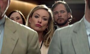 Olivia Wilde as Kathy Scruggs in Richard Jewell.