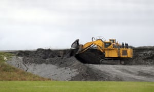 A digger near the proposed site of Hinkley Point C