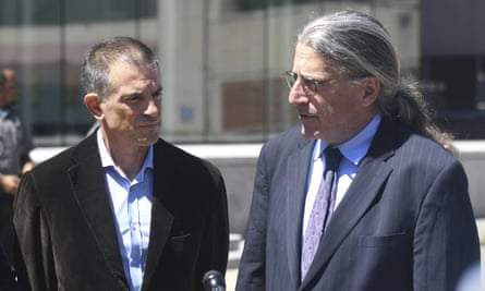 Fotis Dulos (left) with his attorney Norm Pattis, after an appearance at Connecticut superior court on 26 June.