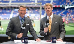 Rob Stone and Alexi Lalas on MLS duty, away from the thrills and spills of Russia 2018