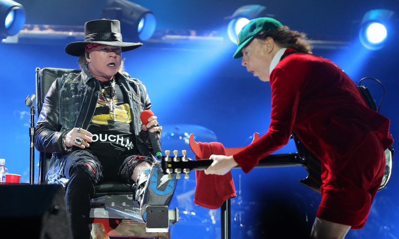 AC/DC perform Shoot to Thrill with new frontman Axl Rose – video