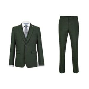 Khaki blazer and trousers from Burton