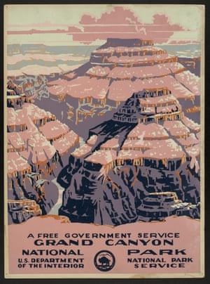 A poster created by the National Park Service, circa 1938.