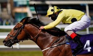 Andrea Atzeni riding Oakenshield wins The Betway Casino Handicap at Newcastle Racecourse.