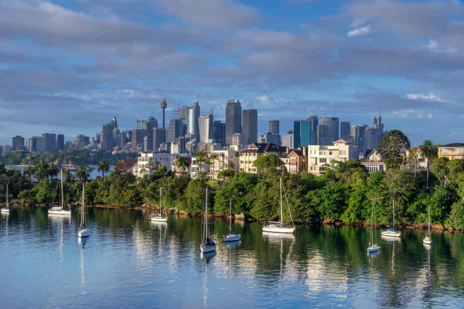 Mosman Bay looks across to Cremorne and the city of Sydney
