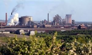The British Steel works at Scunthorpe.