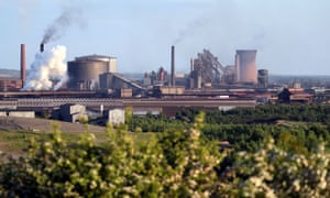 The British Steel works at Scunthorpe, Britain.