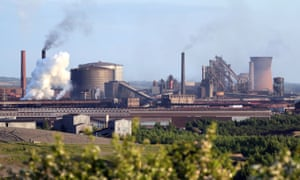 British Steel's Scunthorpe works