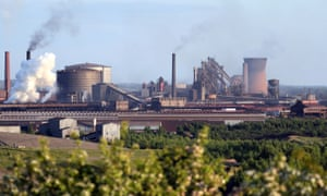 British Steel's Scunthorpe works.