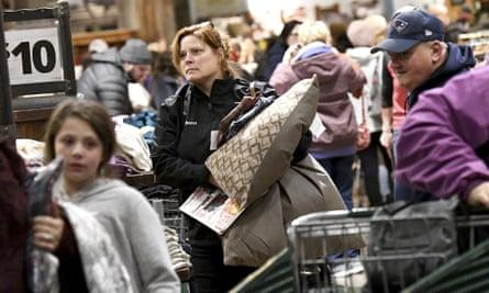 Black Friday shoppers in Foxboro, Massachusetts.
