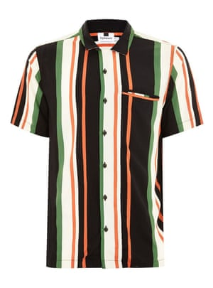 Striped short-sleeved shirt, £30, Topman