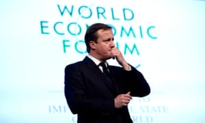 David Cameron at the World Economic Forum in Davos