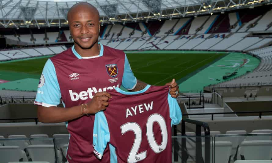 West Ham sign Swansea's André Ayew for club record £20.5m | West Ham United  | The Guardian