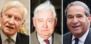 The former Tory MP Harvey Proctor, Lord Bramall, and the late former home secretary Leon Brittan