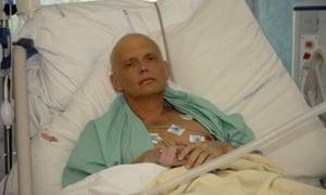 Alexander Litvinenko in hospital three days before he died in November 2006.