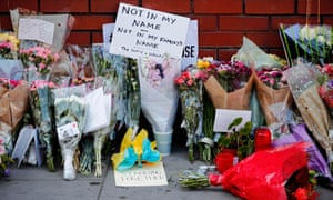 Floral tributes at the scene of the Finsbury Park terror attack in London